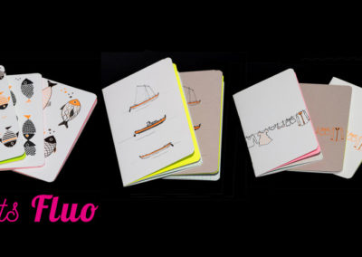 Petit carnet fluo, 10 x 15, fluo