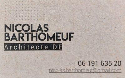 Création d'une carte de visite pour un architecte